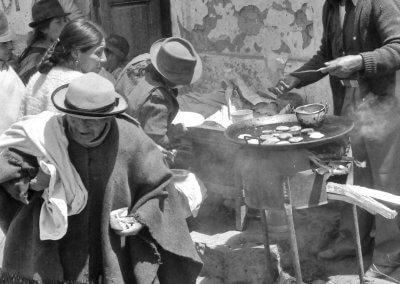 Markt in Saquisili, Equador 1980