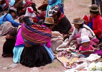 Markt in Pisac, Peru 1980