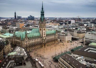 Rathaus HH von oben
