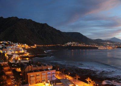 Abend in Punta de Hidalgo