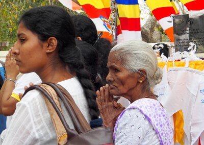 Buddhistisches Tempelfest in Sri Lanka