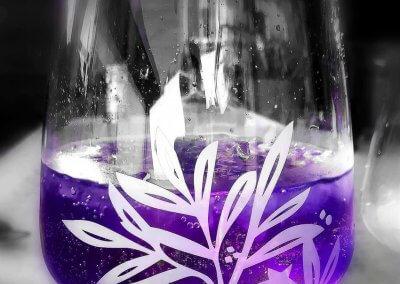 Die lila Erfrischung