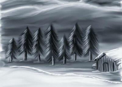 Einsame Kälte