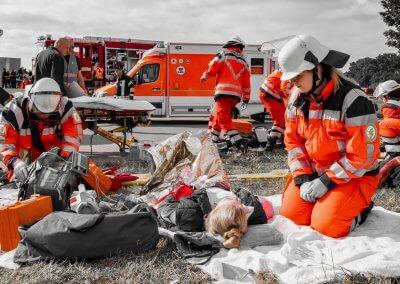 Versorgung der Verletzten
