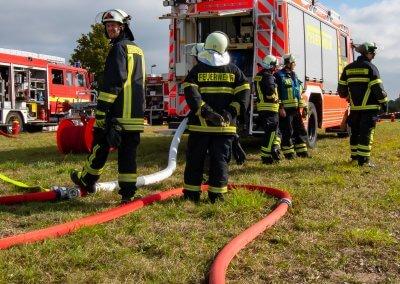 Die Feuerwehr ist schon vor Ort