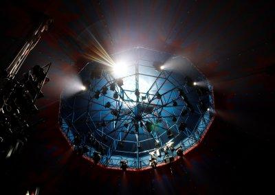 Die Circuskuppel ein aufwendiges Lichtgerüst